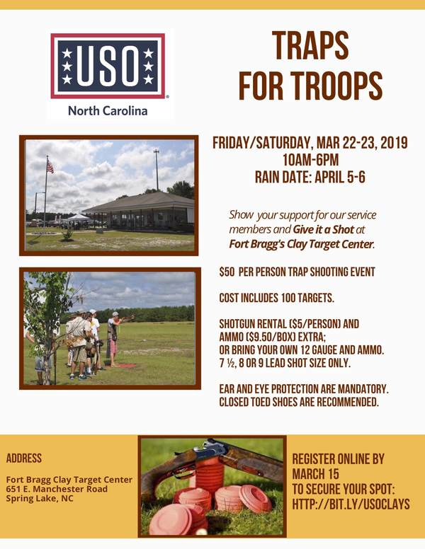 Fort Bragg - Traps for Troops • USO of North Carolina