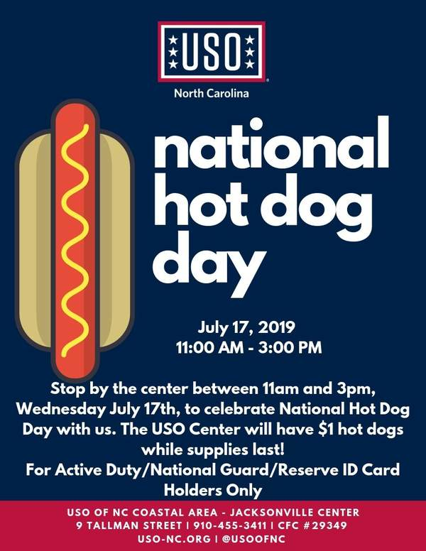 Jacksonville - National Hot Dog Day • USO of North Carolina